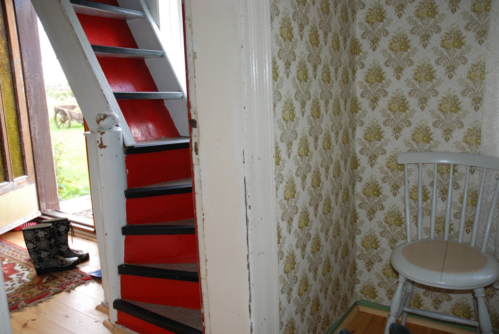 Gammel trapp hos Plankefrue