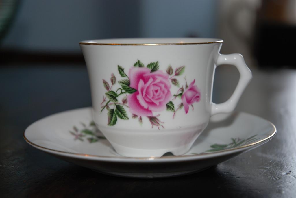 Rosa roser hos Plankefrue