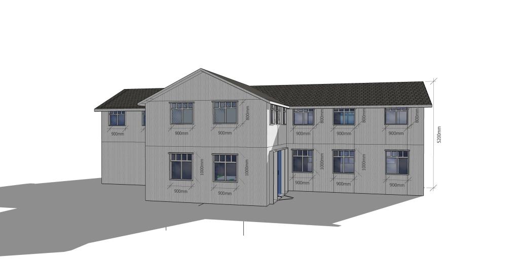 Plankefrue hustegninger fasade2