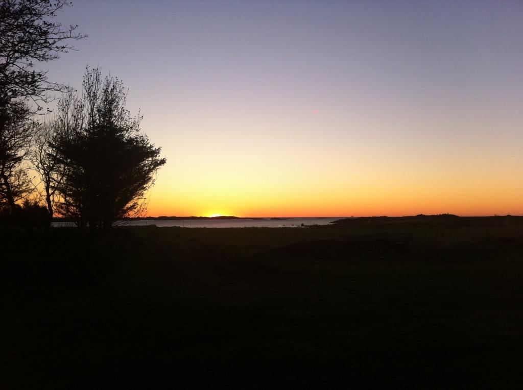 Solnedgang hos PLankefrue