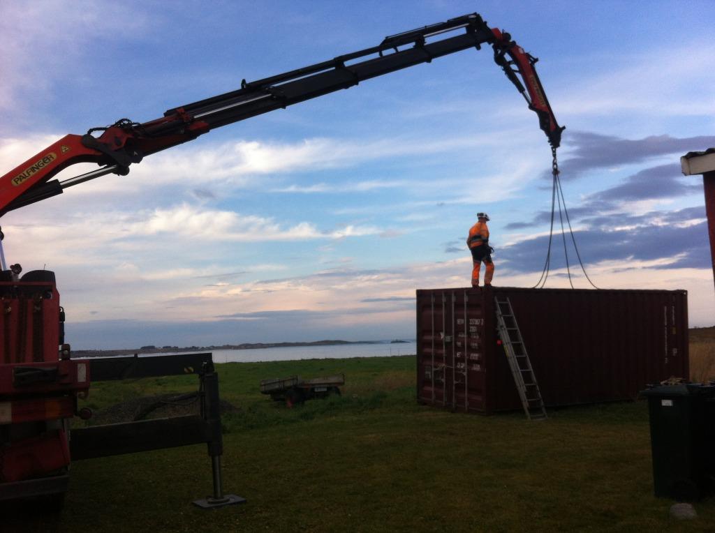 plankefrue får container