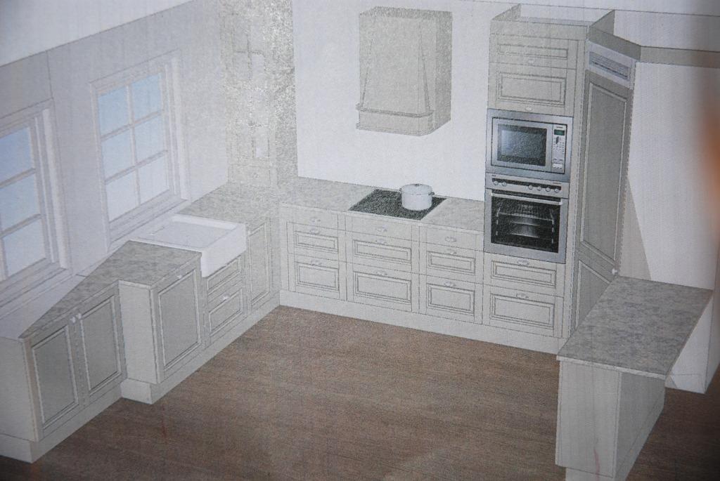 plankefrue planlegger kjøkken